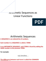 Arithmetic Sequences as Linear Functions