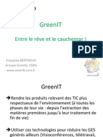 Green IT CNRS Mars 2011
