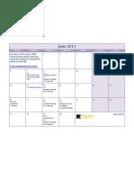 San Diego Class Calendar- June 2011