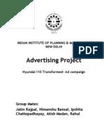 Advertising Project - Hyundai i10- Ad Campaign