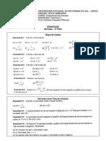 Exercicios-Derivada 3a Parte - Eng Energia Calculo I 2011-1