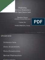 Oss Forensics Fosscomm 2011