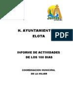 Informe de Los 100 Dias Ismujer 2011