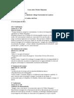 Curso sobre Walter Benjamin - Temario y Bibliografía