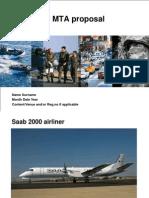Saab 2000 MTA Proposal To IAF
