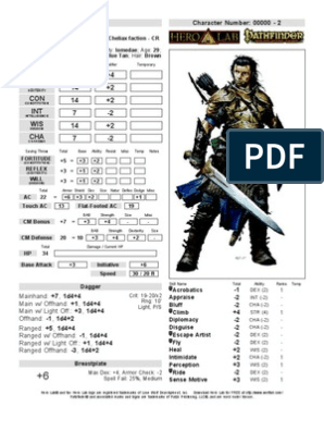 Tornoc (Pathfinder Fighter lvl 3) | Role Playing Games