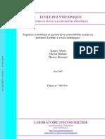 Expertise scientifique et gestion de la contestabilité sociale en