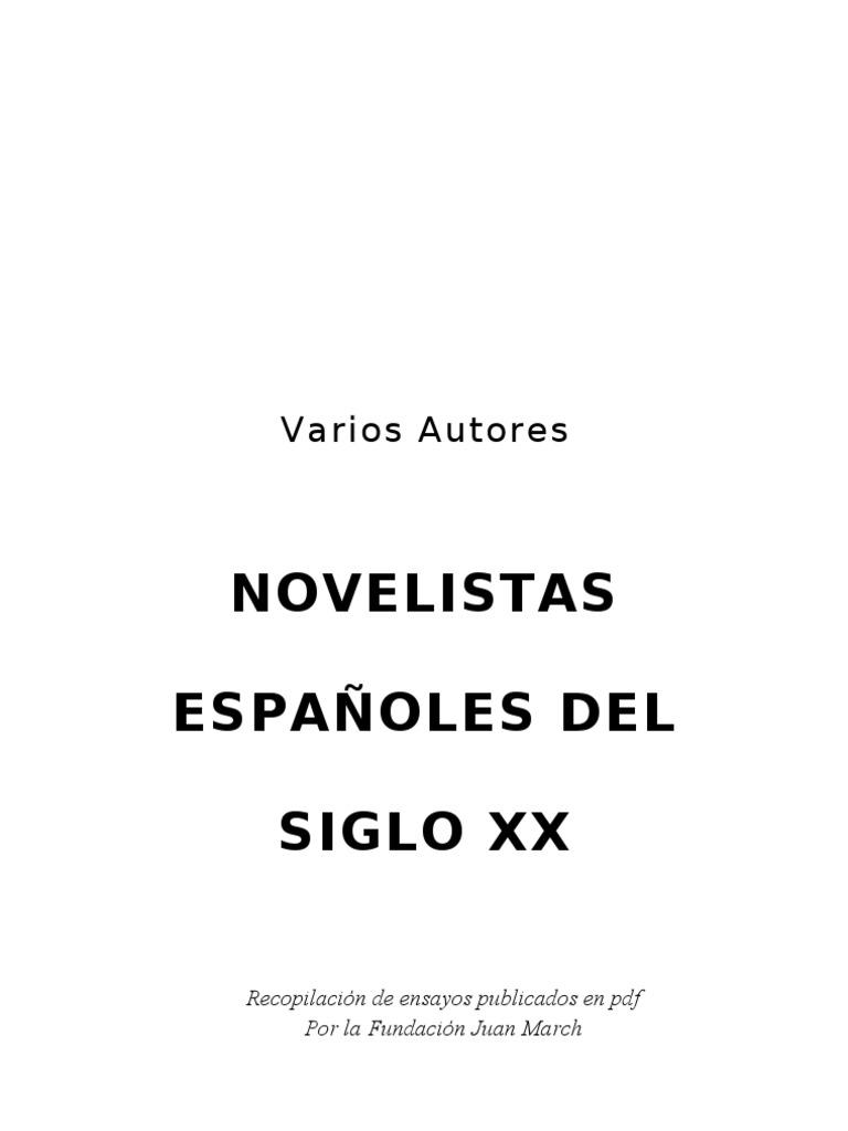 Varios Autores - Novelistas Españoles del Siglo XX