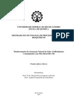 Monitoramento da Atenuação Natural de Solos Artificialmente  Contaminados com Óleo Diesel B0 e B4