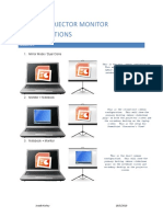 Laptop-Projector Monitor Configurations