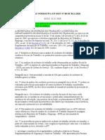 INSTRUÇÃO NORMATIVA SIT 88
