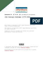 Bomtempo, João Domingos Lessons I and II complete score