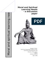 Moral and Spiritual Learning Needs - a discussion Paper