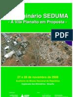 Seminario sobre a Vila Planalto