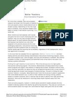 Bettet Mentoring Better Teacher Barin