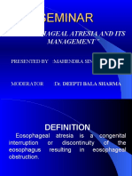 Oesophageal Atresia and Its Management