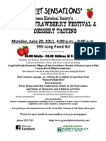 2011 Strawberry Festival flier