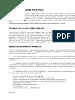 Trabajos en Caliente (Pulidoras - Soldaduras y Sustancias Quimicas).