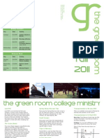 Greenroom Fall Brochure