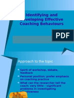 Effective Coaching