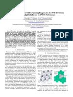 Downlink Capacity of UTRAN reusing Frequencies of a DVB-T