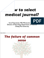 How to Select Medical Journal