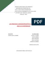 Los Procesos Administrativos y Los Factores Que La Conforman