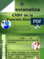 Profesionalizacin docente