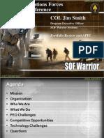 PEO SOF Warrior Brief SOFIC 2011