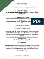 Doa Majlis Sambutan Integriti Kpt Terbaru 2010