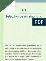 SELECCION DE ALGORITMO