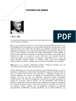 FILOSOFÍA DE PITÁGORAS, aristoteles y platon