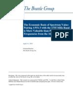 2011-4-11 Economic Basis of Spectrum Value