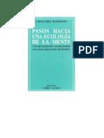 Bateson, Gregory - Pasos hacia una ecología de la mente