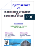 Mkting Strategy of Rulkele Steel Plant