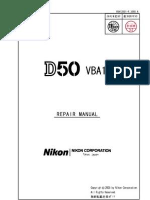 Nikon d50 Repair Manual   Question   Integrity