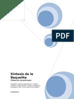 Sintesis de La Baquelita