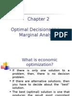 Optimal Decisions Using Margial Analysis