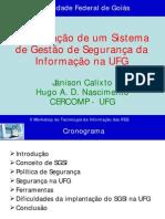 SEGURANCA DA INFORMACÃO UFG