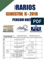 Horarios II-2010 PAR Pensum Nuevo FAGRO UCV
