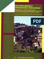 Interculturalidad y comunicación intercultural. Propuesta teórica y estudio de experiencias de participación social en la gestión de servicios públicos en una comunidad popular de la ciudad de Caracas