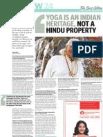b.k.s. Iyengar-yoga is an Indian Heritage, Not a Hindu Property