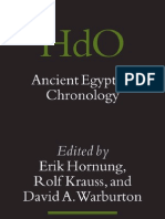 Ancient Egyptian Chronology - Edited by Erik Hornung, Rolf Krauss, And David a. Warburton