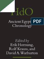 Ancient Egyptian Chronology - Edited by Erik Hornung, Rolf Krauss, And David a. Warburton