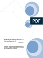 All-In-One Code Framework Coding Standards