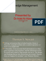 MGT466 Knowledge Management Dr Adel Presentation #1-3
