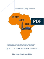 Quality Assurance Procedures Manual - Super Rock 2011