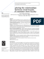 Relationship Between Store Brnds and Store Loyalty