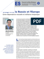 Gazprom, la Russie et l'Europe - Note d'analyse géopolitique n°22
