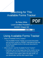 Available Forms Tracker Training
